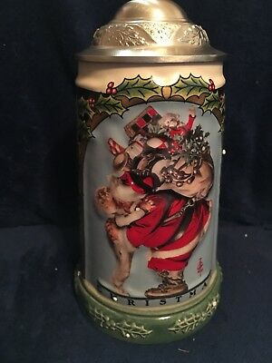 Gerz Christmas Collection Stein The Saturday Evening Post Third in a Series