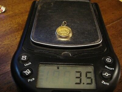 Vintage 14K Yellow Gold State Of California 25 Year Service Pendant