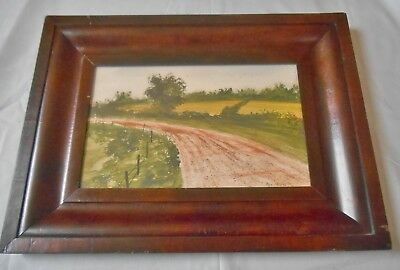Antique 1800s Flame Mahogany Empire Ogee Frame / Victorian Eastlake 19th Century