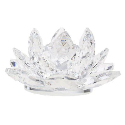 Reflection Crystal Lotus Flower with Gift Box 4-Inch Home Wedding Clear