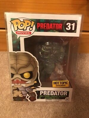 Funko Pop Movies - Invisible, bloody Predator vinyl figure Hot Topic exclusive