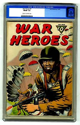 War Heroes #7 CGC 7.0 VINTAGE DELL Comic Military Golden Age 10c OLD LABEL