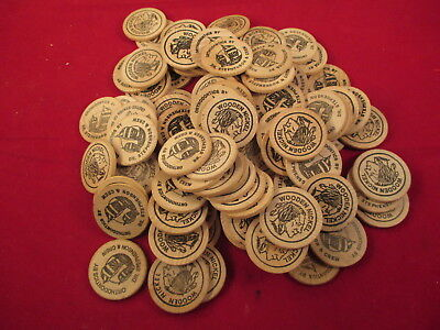 Wooden nickle  lot  X101