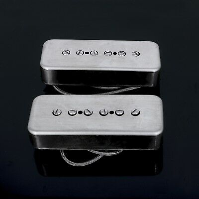 Lindy Fralin Stock P-90 Hum Cancelling Soapbar Pickup Set *RAW NICKEL  COVERS