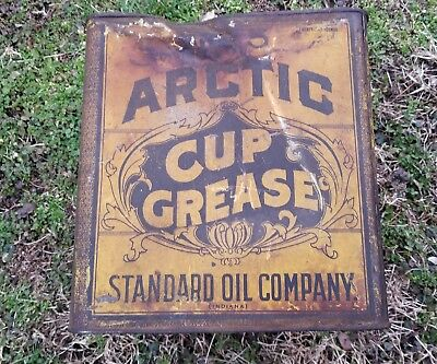 Antique ARCTIC CUP GREASE Oil Can Model T Ford Standard Oil of Indiana