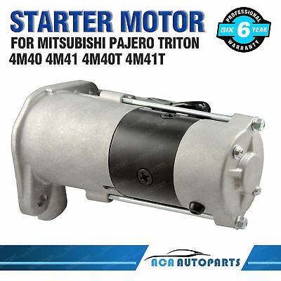 Starter Motor for Mitsubishi Pajero NJ NK NL NM NP NS 4M40 4M41 Triton MK ML