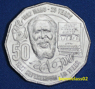 2017 Australian Eddie Mabo Pride and Passion 50 cent coin X RAM Mint Roll / bag