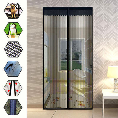 Magic Mesh Anti-Insect Fly Mosquito Door Curtain Net Mesh Screen Protector 83X39