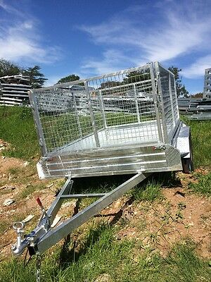 Tandem Trailer 10x6ft /1000 mesh cage Galvanized Brand New
