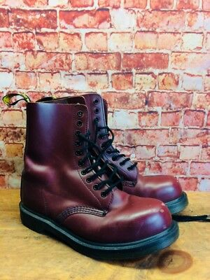 03e1925e820eb Dr Martens 1919 Steel Toe Smooth Cherry Red 10 Eyelet Boots Size Men s US 7