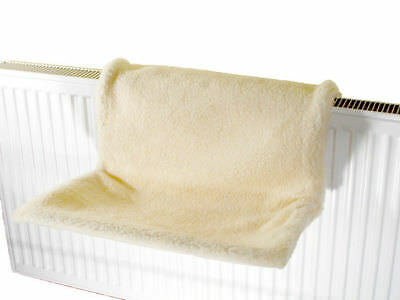 Cream Comfy Radiator Cat Kitten Bed Warm Heated Snug/Basket Hammock Pet Cradle