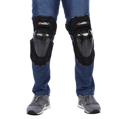Protective Free Size Motorcycle Knee Pads in Black
