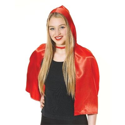 Ladies Red Riding Hood Cape - Fancy Dress Costume Fairytale Cloak