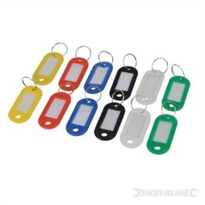 Silverline 844160 Assorted Coloured Key Id Tags Pack Of 12 - 12pk Master Rings
