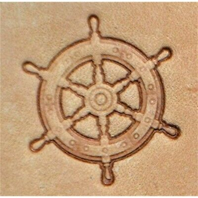 Ships Wheel Craftool 3-d Stamp Item #8682-00 By Tandy Leather - 3d 886200