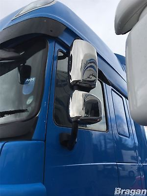 To Fit 2006 - 2013 DAF CF Polished Steel Mirror Covers Truck Lorry 4 Piece Set
