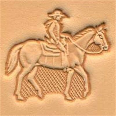 Tandy Leather Horse & Rider Craftool 3-d Stamp 88314-00 - 3d 8831400