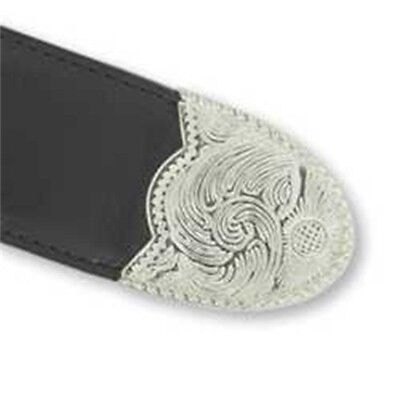 Buckle Tip - Nickel Plated - Belt 11 2 Design Decorative Accent Tandy
