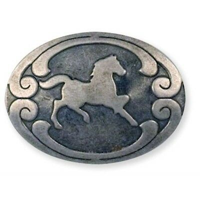Economy Rivetback Concho - Antique Silver Rivet Back 1375horse