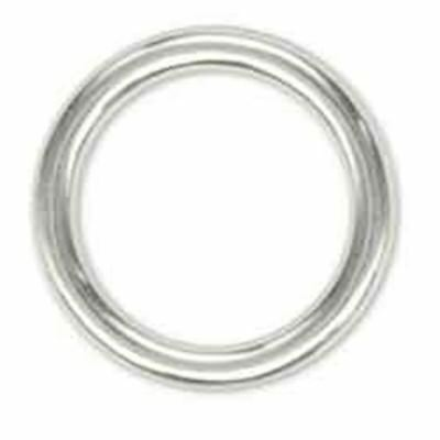 "3/4"" Nickel Plated Solid Ring - 34 Leathercraft Design Decorative Accent Tandy"