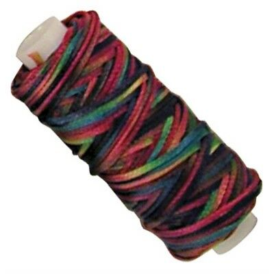 25yd Multi-coloured Waxed Braided Cord - 25ydmetallic Multicolor