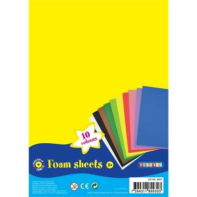 Playbox 30 x 20cm Foam Sheets In 10 Colours (10 Pieces) - Pbx2470247 20cm Pcs