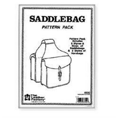 Leather Saddle Bag Pattern Pack - Packsaddle