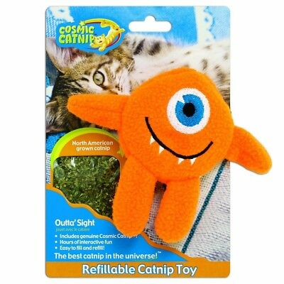 Cosmic Catnip Refillable Cyclops Cat Toy - Strong