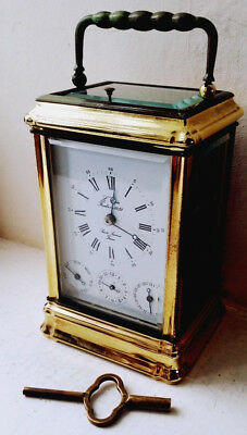 Beautiful Rare Gorge cased L'epee Repeating Complication Carriage Clock with Key