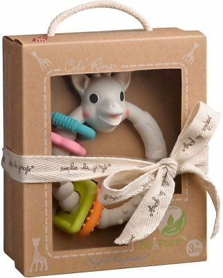 So Pure Sophie The Giraffe Multi Textured Teether 100% Natural Rubber Baby -BN
