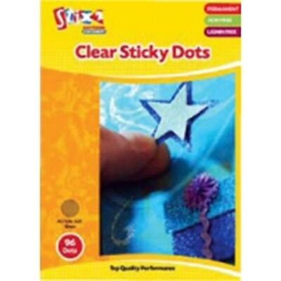 Clear Sticky Dots – 10mm Diameter – 96 Dots- 1 Pack - x Acid Lignin Free Craft