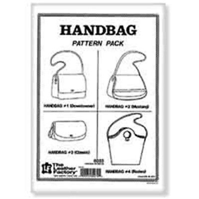 Leather Handbag Pattern Pack - Designs Template Leathercraft Tandy 603300