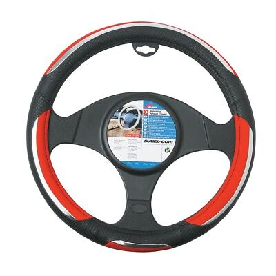 Sumex Snake Pvc Steering Wheel Cover - Red
