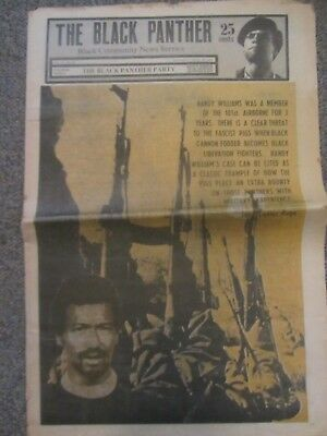 The Black Panther Newspaper April 1970 Bobby Seale Randy Williams Huey P Newton