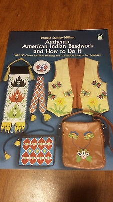 Book New Authentic American Indian Beadwork & How To Do It Charts & Patterns