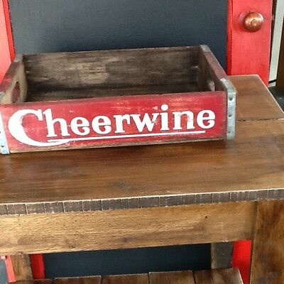Cheerwine Wooden Soda Bottle Crate