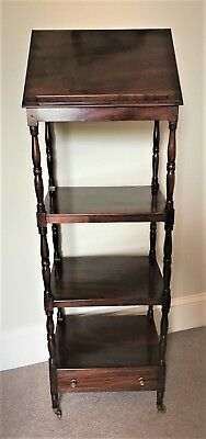 Beautiful Antique Georgian Mahogany Whatnot Open Bookcase Lectern Book Stand