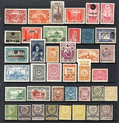 TURKEY EARLY TO MID PERIOD MNH & LIGHTLY MOUNTED MINT RANGE x 39 STAMPS NOT CAT