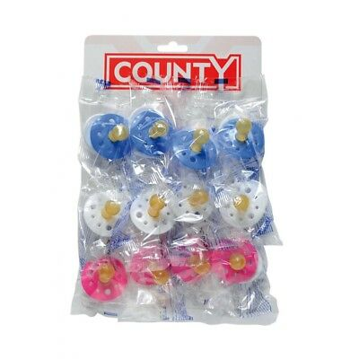 County Sales Baby Soothers Dummies Pacifiers Pack Of 12 Cheap Bulk Deal Fast Del