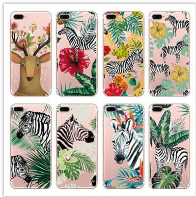Tropical Plant Leaf Flower Soft Phone Case Cover For iPhone XR XS Max 6 7 8 plus