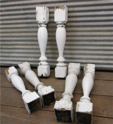 6 Balusters White Wood Architectural Salvage Spindles Porch Post House Trim a
