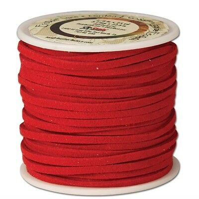 """The Leather Factory Ecosoft Lace Spool Red, 1/8"""" x 25yd - Eco-soft 1 8""""x25 Yds."""