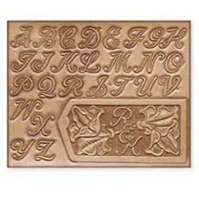 "1"" Alphabet Leather Print Template - 1"" Pattern Design Imprinting Leathercraft"