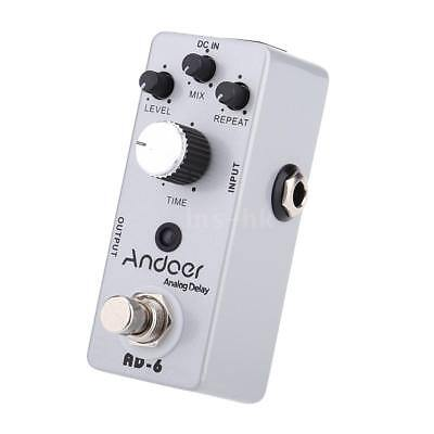 Andoer TC-31 AD-6 Analog Delay chitarra effetto pedale True Bypass H2T5