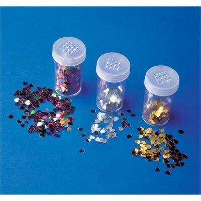 12g 6mm Heart Sequins Pack Of 3 Jars - Playbox Hearts Jar Pbx2470209 12 G
