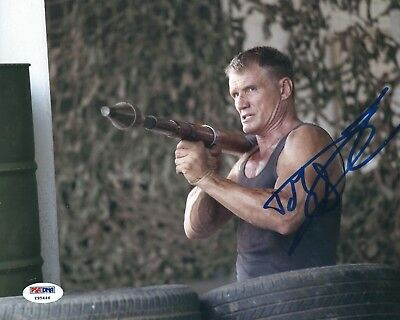 Dolph Lundgren Signed 8x10 Photo *Rocky *The Expendables PSA Y95446
