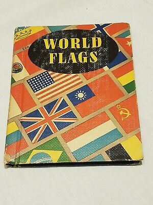 Vintage 1942 World Flags Book -- Small Hard Covered Book -- Rand McNally & Co