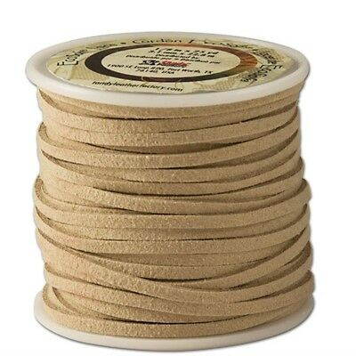 "The Leather Factory Ecosoft Lace Spool Beige, 1/8"" x 25yd - 18in 8x25 Yds Beige"