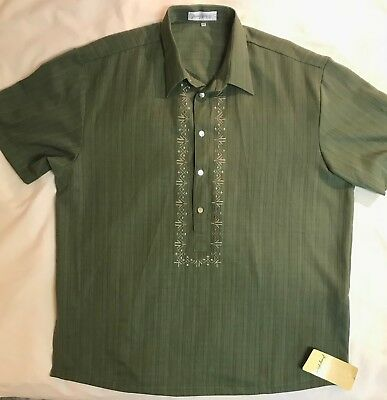 Barong Filipino En Wedding/dress Shirt - Men's Xxxl -  Embroidered - Nwt - Nwt