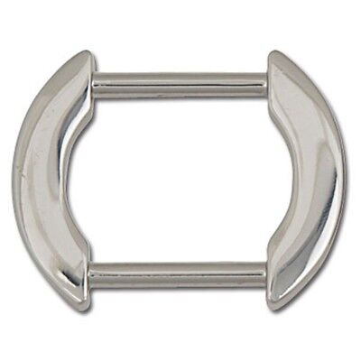 "1"" Nickel Plated Flat Arch Bag Strap Ring - 1 Purse Attachment Tandy"
